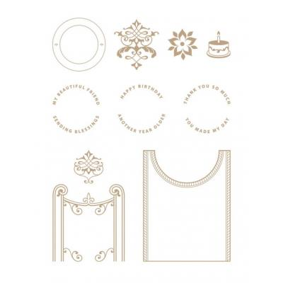 Spellbinders Glimmer Hot Foil Plates - Filigree Crescent Band