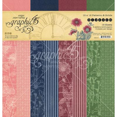 Graphic 45 Blossom Designpapier - Patterns & Solids Paper Pad