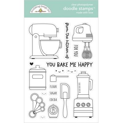 Doodlebug Made With Love Clear Stamps - Made With Love