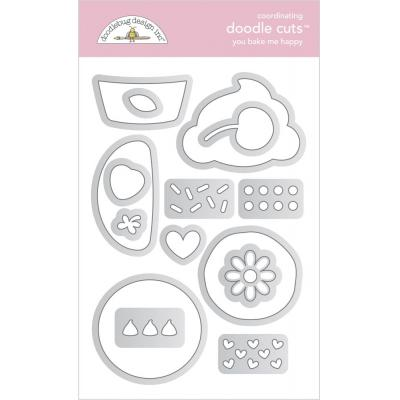 Doodlebug Made With Love Doodle Cuts - You Bake Me Happy