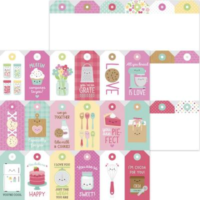 Doodlebug Made With Love Designpapier - Treat Tags