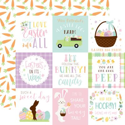 Echo Park Welcome Easter Designpapier - 4x4 Journaling Cards