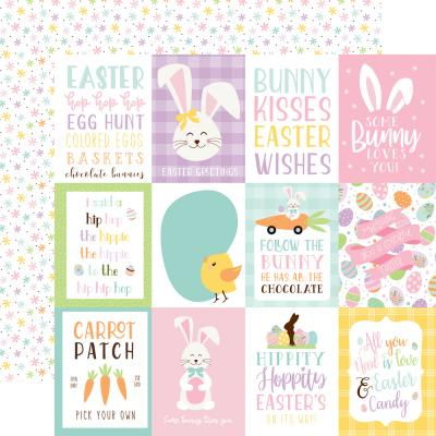 Echo Park Welcome Easter Designpapier - 3x4 Journaling Cards