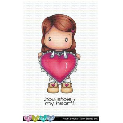 C.C. Designs Clear Stamps - Heart Swissie