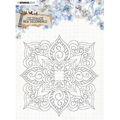 StudioLight Celebrate New Beginnings Clear Stamps - Flower Ornament Nr. 519