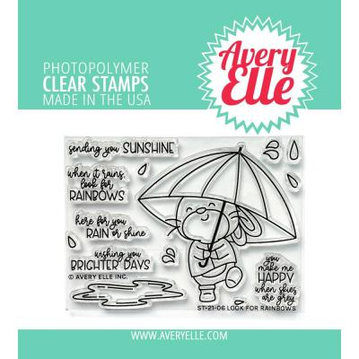 Avery Elle Clear Stamps - Look For Rainbows