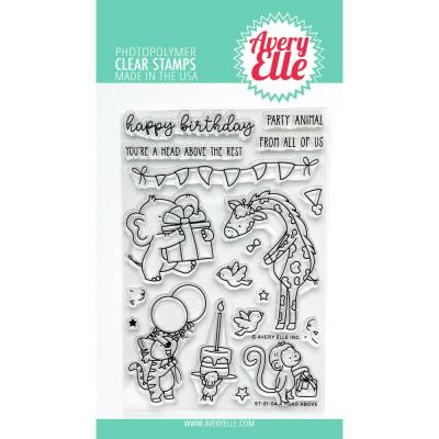 Avery Elle Clear Stamps - A Head Above