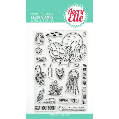 Avery Elle Clear Stamps - Underwater Friends