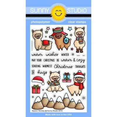 Sunny Studio Clear Stamps - Alpaca Holiday