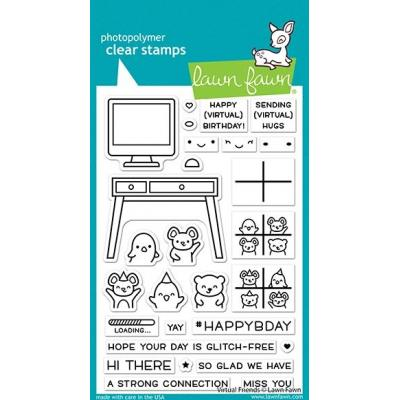Lawn Fawn Clear Stamps - Virtual Friends