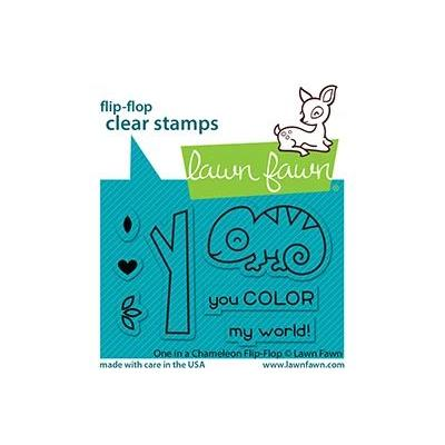 Lawn Fawn Clear Stamps - One In A Chameleon Flip-Flop