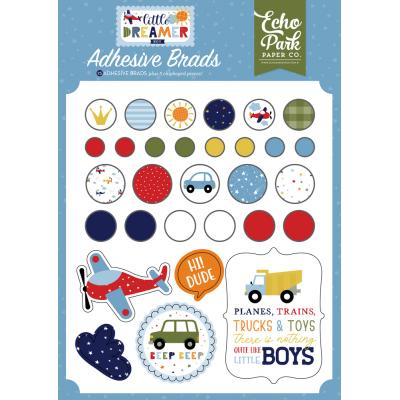Echo Park Little Dreamer Boy Embellishments - Adhesive Brads