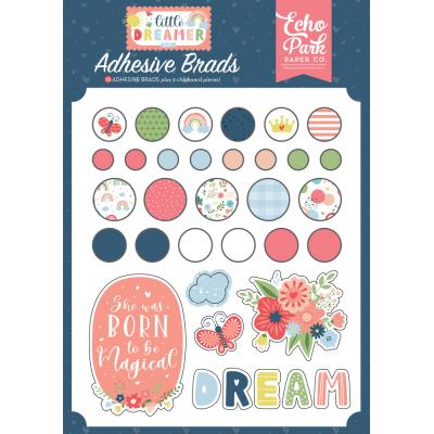 Echo Park Little Dreamer Girl Embellishments - Adhesive Brads