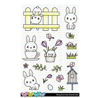 C.C. Designs Clear Stamps - Bitty Bunnies