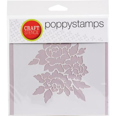 Poppystamps Stencil - Romantic Blooms