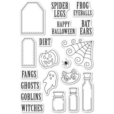 Poppystamps Clear Stamps - Halloween Ingredients