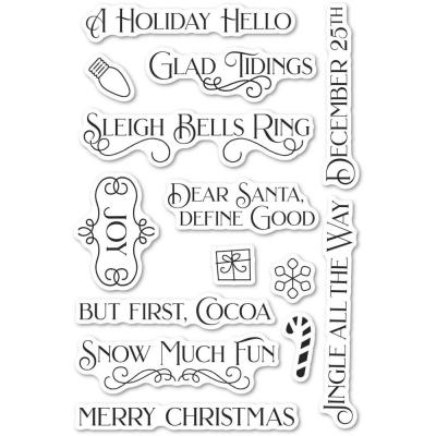 Poppystamps Clear Stamps - Christmas Fun