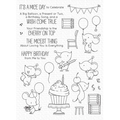 My Favorite Things Clear Stamps - Mice Day to Celebrate