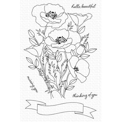 My Favorite Things Clear Stamps - Wild Poppies