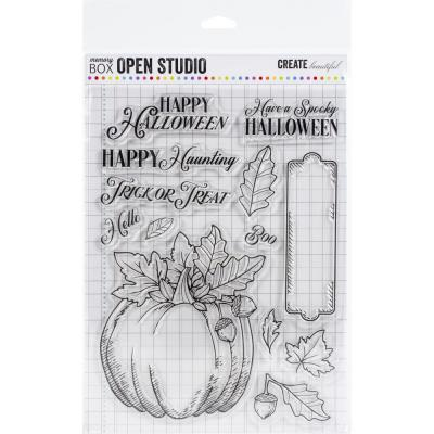 Memory Box Clear Stamps - Halloween Pumpkin