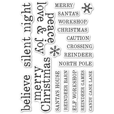 Memory Box Clear Stamps - Christmas Tiles