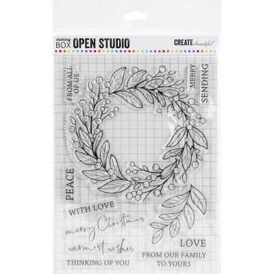 Memory Box Clear Stamps - Berry Wreath