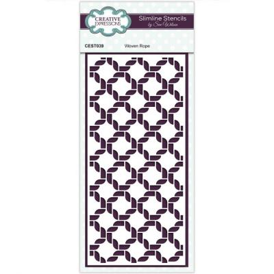 Creative Expressions Stencil - Woven Rope