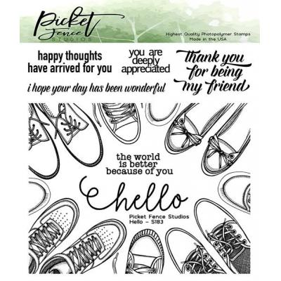 Picket Fence Studios Clear Stamps - Hello