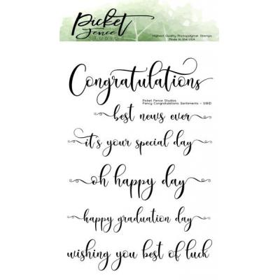 Picket Fence Studios Clear Stamps - Congratulations Sentiments