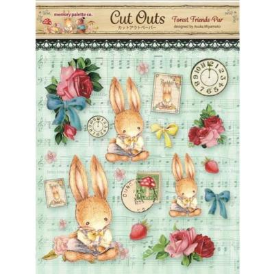 Asuka Studio Memory Place Forest Friends Die Cuts - Pure