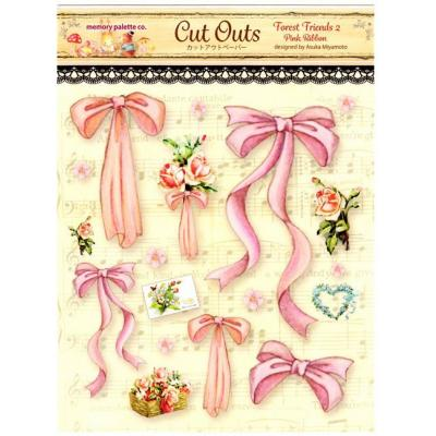 Asuka Studio Memory Place Forest Friends Die Cuts - Pink Ribbon