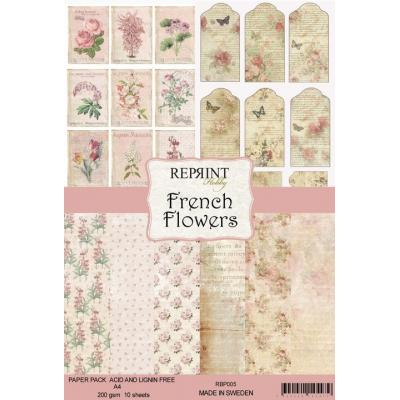 Reprint French Flowers Collection Designpapier - Paper Pack