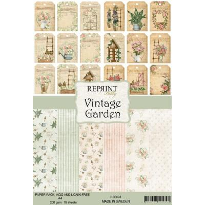 Reprint Vintage Garden Collection Designpapier - Paper Pack