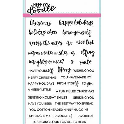 Heffy Doodle Clear Stamps - Elfing Christmas Words