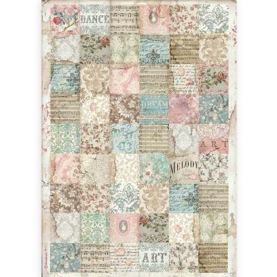 Stamperia Passion Rice Paper - Patchwork