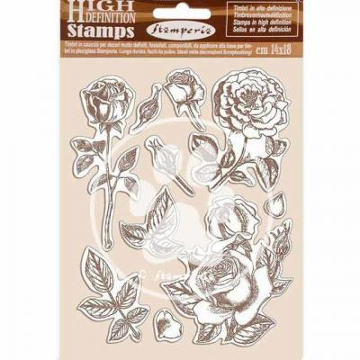 Stamperia Passion Natural Rubber Stamp - Rose