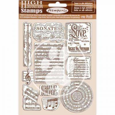 Stamperia Passion Natural Rubber Stamp - Music