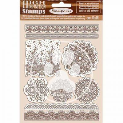 Stamperia Passion Natural Rubber Stamp - Lace