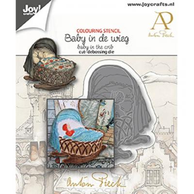 Joy!Crafts Anton Pieck Stanzschablone - Baby & Wiege