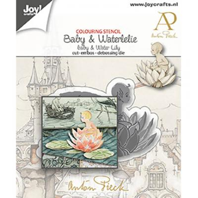 Joy!Crafts Anton Pieck Stanzschablone - Baby & Wasserlilie