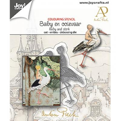 Joy!Crafts Anton Pieck Stanzschablone - Baby &  Storch
