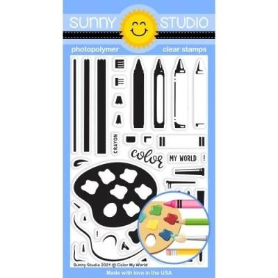 Sunny Studio Clear Stamps - Color My World