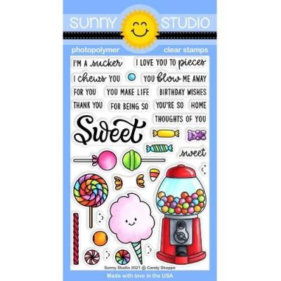 Sunny Studio Clear Stamps - Candy Shoppe