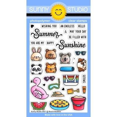 Sunny Studio Clear Stamps - Beach Buddies