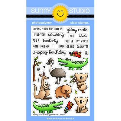 Sunny Studio Clear Stamps - Outback Critters