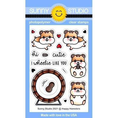 Sunny Studio Clear Stamps - Happy Hamsters