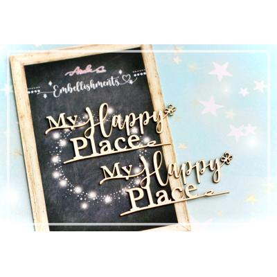 Asuka Studio Memory Place Chipboard - My Happy Place