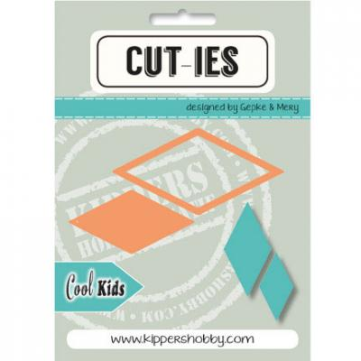 Kippershobby CUT-IES Stanzschablone - Cool Kids Diamant