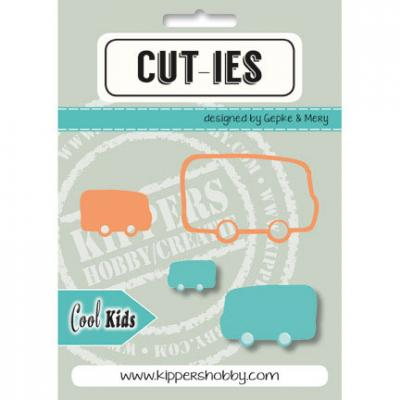 Kippershobby CUT-IES Stanzschablonen - Cool Kids Bus