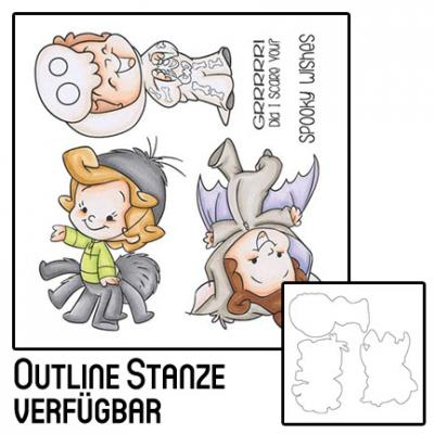 C.C. Designs Rubber Stamps Clear Stamp und Outline-Stanzschablonen - Roberto's Rascals Creepy Crawlies
